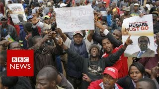 Zimbabwe : Thousands celebrate end of Mugabe era - BBC News