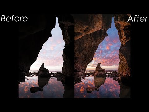 Landscape Photography Processing in Lightroom #1: Sunset Cliffs Cave