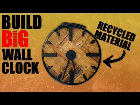 How to build a wall clock from recycled materials