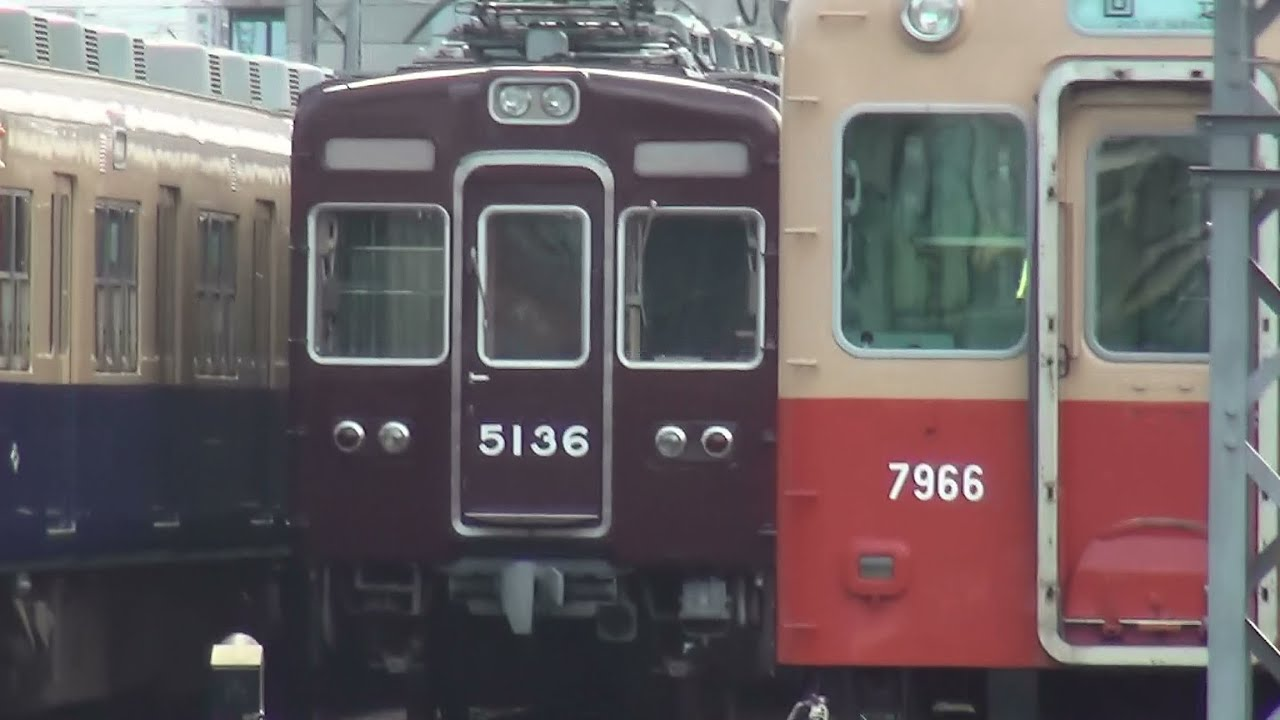 kl3200kei 阪神電車尼崎駅の留置線に阪急電鉄5100系5136F留置中 阪神・山陽電車・