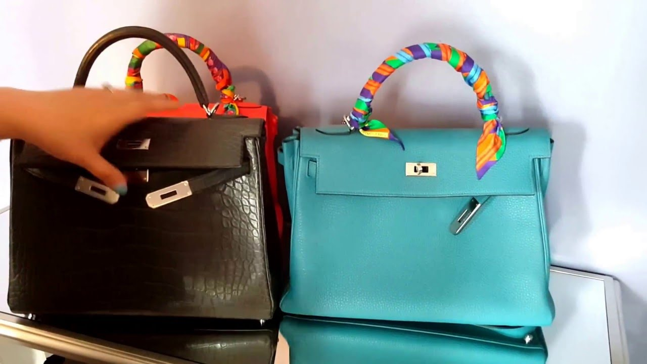 17f502e7ed Comparing Hermes Kelly Bags 28cm and 32cm - YouTube