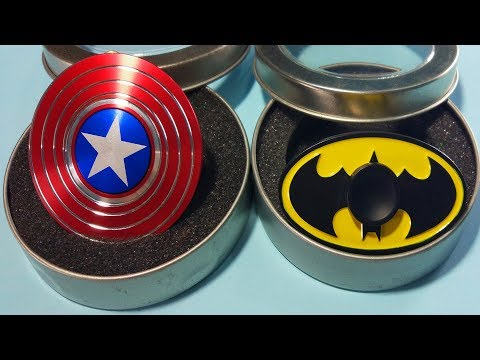 SuperHero CAPTAIN AMERICA Fidget Spinner VS BATMAN Fidget Spinner SPIN TEST !