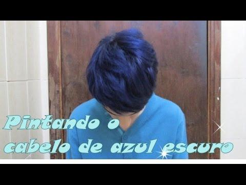 pintando o cabelo de azul escuro youtube