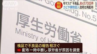 """カビや異物混入・・・配布マスク""""不良品""""約4万7000件(20/05/01)"""
