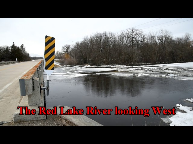 Flooding near Smiley Bridge in Pennington County