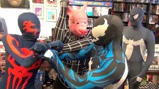 Venom's Antics Featuring Spider-Man 2099, Symbiote Spidey, Pikachu & Spider-Pig