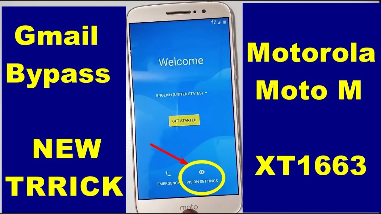 Motorola Moto M XT1663 New Trick Google lock reset Frp March 2018