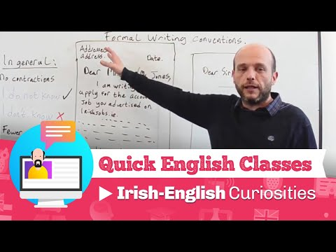 Quick English Classes - Irish-English curiosities
