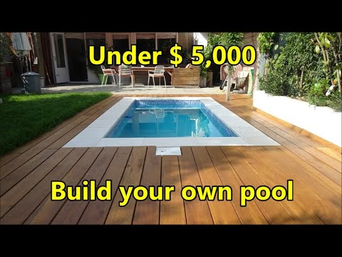 Build Your Own Swimming Pool Under $ 5,000 - Costs And Materials