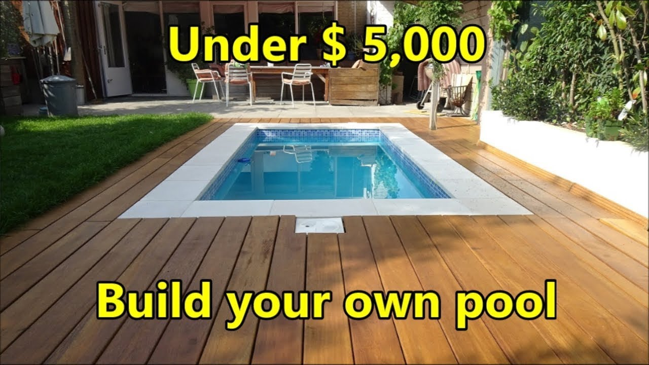 Build Your Own Swimming Pool Under 5 000 Costs And Materials Youtube