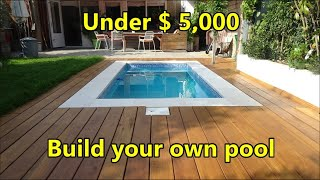Build your own swimming pool under $ 5.000 - costs and materials