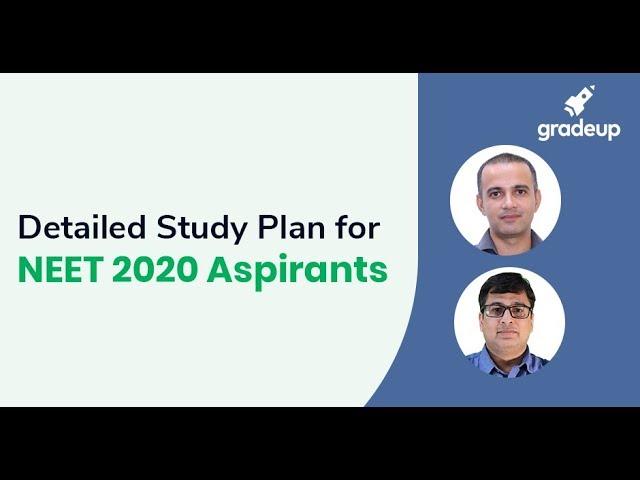 Detailed Study Plan for NEET 2020 Aspirants