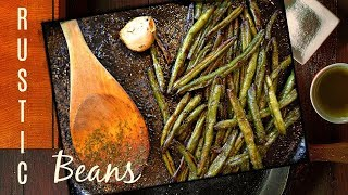 Simple Sautéed Green Beans Recipe - Cast Iron Pan Recipe With Frozen Green Beans