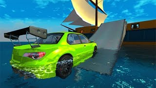 Driving On Water With Cars #2 BeamNG drive