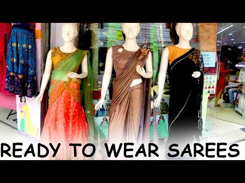 Designer Wear Lehengas & Ready To Wear Sarees   Designer Frill And Ruffle Sarees In Ready Made Style