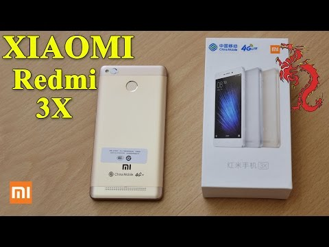 XIAOMI Redmi 3X //Цвет Gold и лого CHINA MOBILE