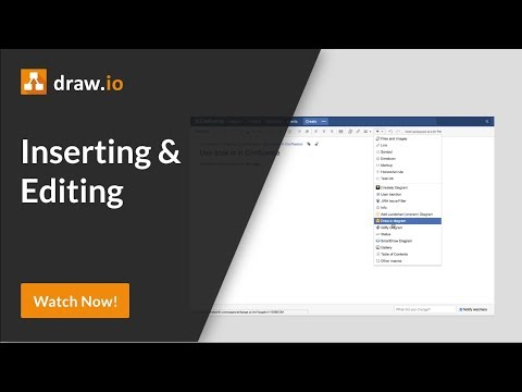 How To Add A Draw Io Diagram To An Atlassian Confluence Page Youtube