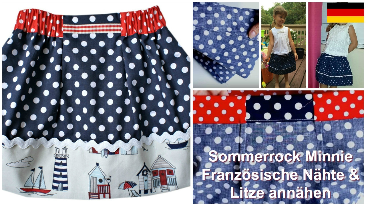 Wie man einen Rock näht (Easy Summer Skirt Schnittmuster) - YouTube