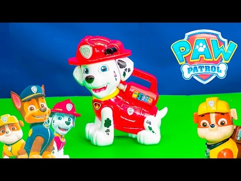 Unboxing the Paw Patrol Marshall Teach and Treat Alphabet Toy
