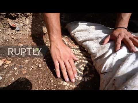 Italy: Ancient Roman mosaic floor discovered under vineyard