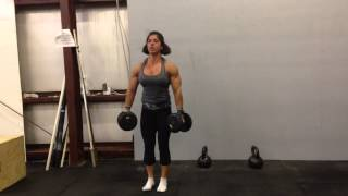 Gillian Ward Upper Body Training - Handstand push-ups superset with DB Lateral Raises