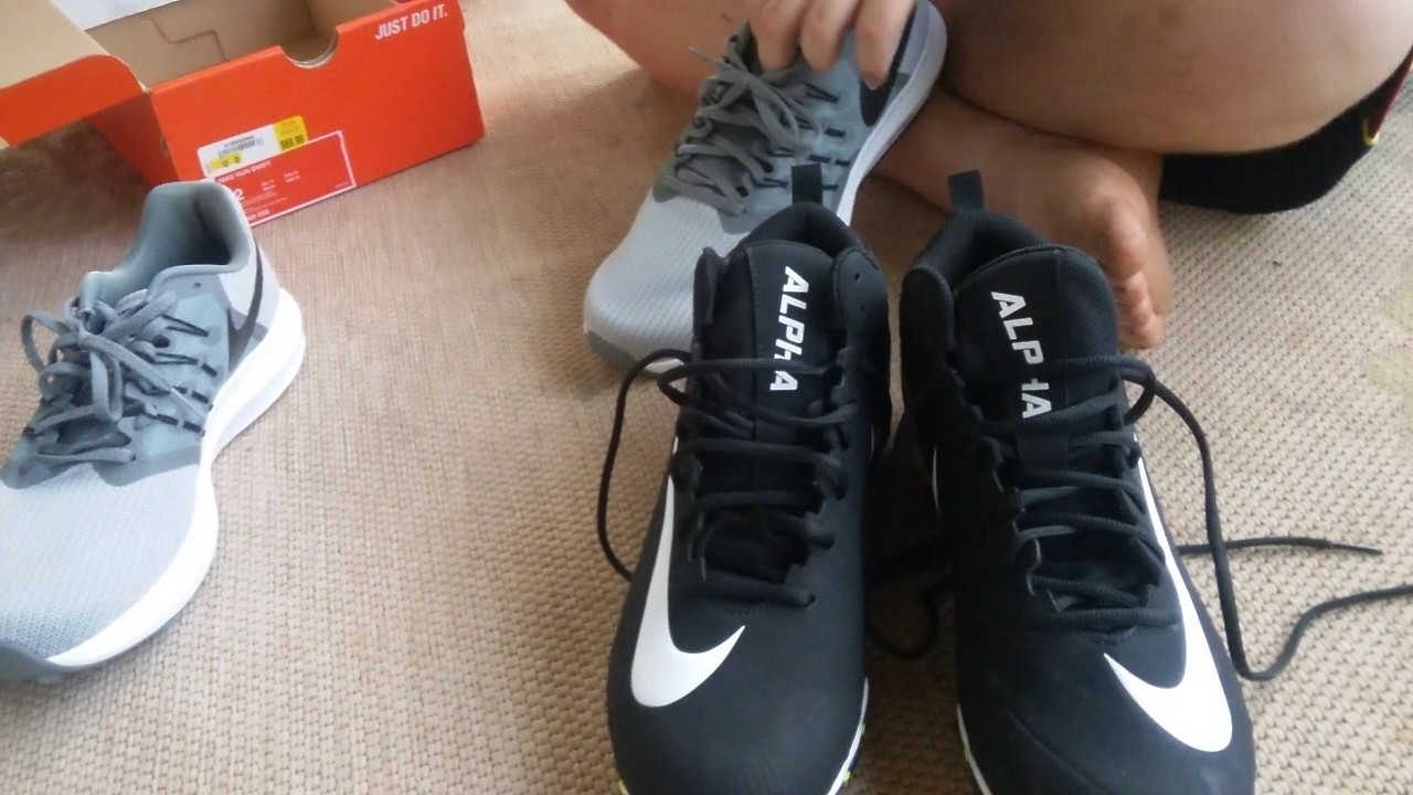 Unboxing Nike run Swift shoes and Nike Alpha football cleats