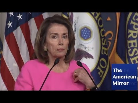Nancy Pelosi mutters 'oh God' when asked question about guns