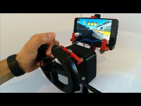 Smartphone Gaming Steering Wheel Gadget 3D Printed