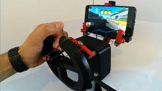 gaming Steering Wheel DIY Smartphone Gadget 3D Printed