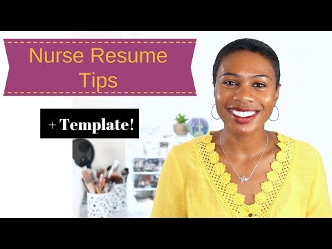 Nursing Resume| New Grad Or Grad School + Template