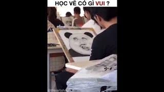 Học vẽ có gì vui- vẽ tranh 3d và những cú lừa =))