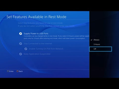 Turn off power to USB ports in Rest Mode to make PS4 silent