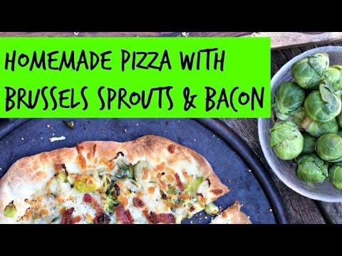 Making Brussels Sprouts & Bacon Pizza