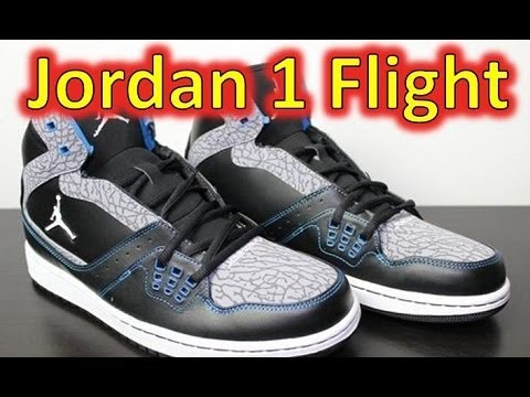 f5a4b686ea818b Air Jordan 1 Flight Black White Photo Blue - Review + On Feet - YouTube