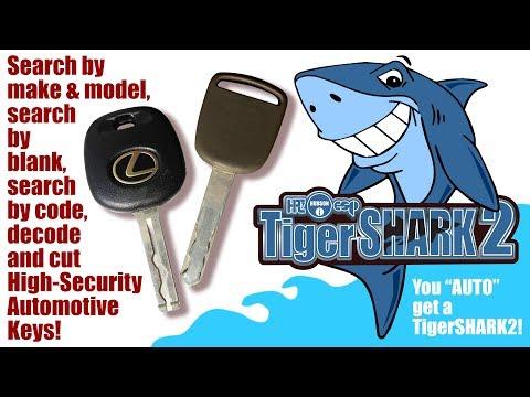 TigerSHARK2 cuts Car Keys