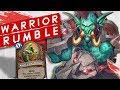 WARRIOR RUMBLE RUN! For the Rhinos! | Singleplayer | Hearthstone