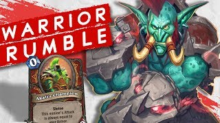 WARRIOR RUMBLE RUN! For the Rhinos! | Singleplayer | Hearthstone