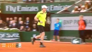Brilliant return by Andy Murray against Monfils