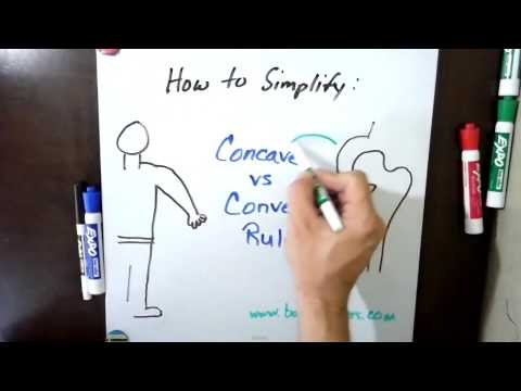 How to Simplify Concave vs. Convex Rules