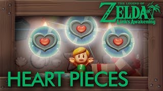 Zelda Link's Awakening (Switch) - All Heart Pieces