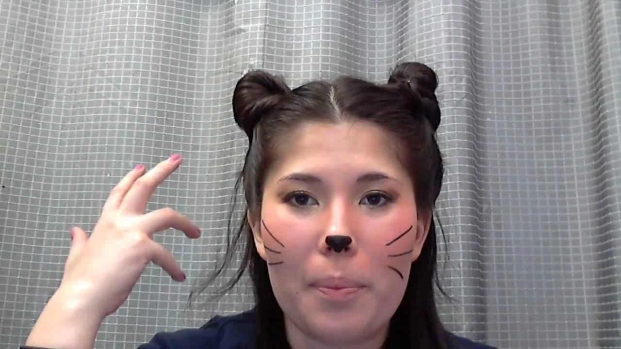 cat eyehalloween makeup tutorial cat look that can be done quickly