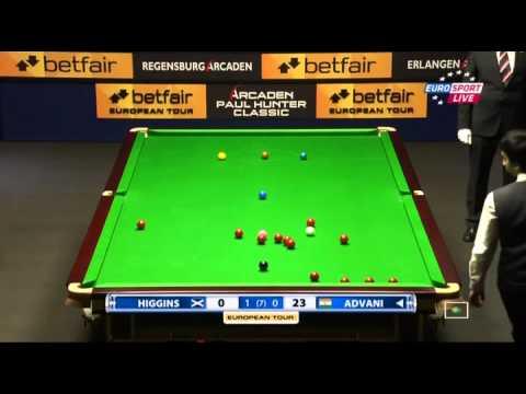 Higgins  Vs  Advani~2012 Paul Hunter Classic -European Tour 1