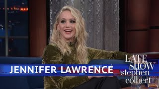 Jennifer Lawrence Tells Her Haters With Blogs Not To See 'Red Sparrow' - The Late Show with Stephen Colbert