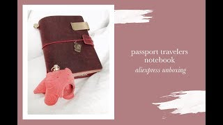 Passport Travelers Notebook Unboxing Aliexpress