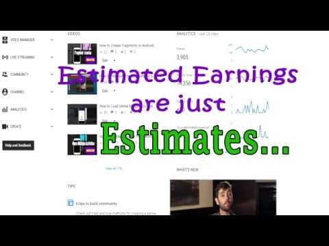 Why your Estimated Revenue on you-tube fall