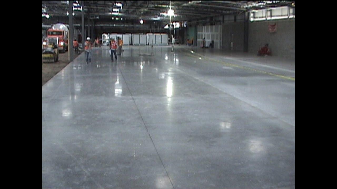 Pisos de concreto para naves industriales youtube - Como pulir un piso de cemento ...