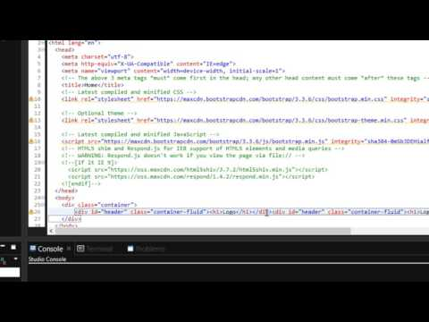 Episode 1 - How to create a responsive website with Bootstrap 3 | Aptana Studio 3