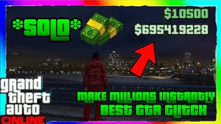 *Easiest Way!* GTA 5 SOLO MONEY GLITCH - How To Make A LOT OF MONEY ($1,500,000+ Every Time) - GTA V