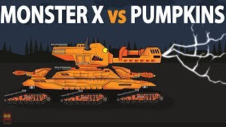 "Tank cartoon ""Monster X vs Pumpkin Tanks"""