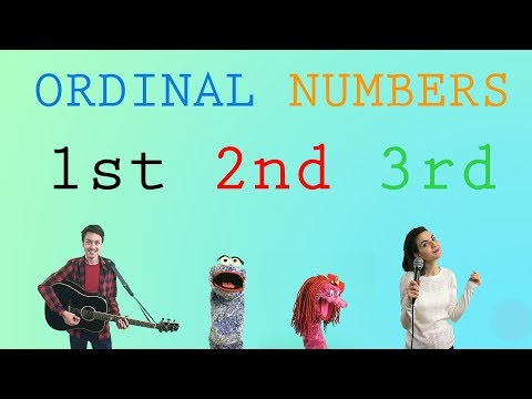 Ordinal Numbers Song | First Second Third Song | Nursery Rhymes | English Vitamin Bubbles